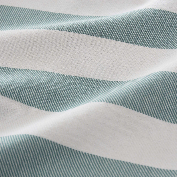 Filiz hammam towel, green grey & white, 100% cotton | URBANARA hammam towels