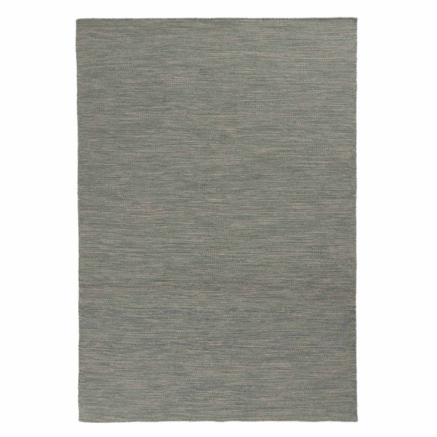 Gravlev rug, green grey & light green grey & natural white, 50% new wool & 50% cotton | URBANARA wool rugs
