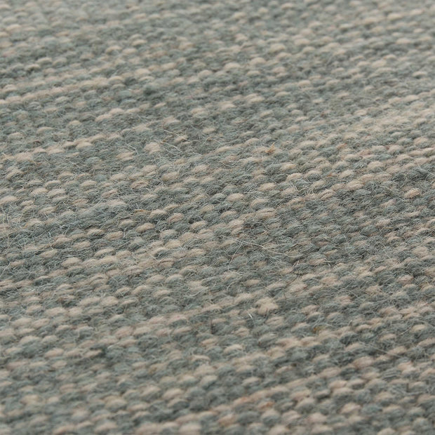Gravlev rug, green grey & light green grey & natural white, 50% new wool & 50% cotton |High quality homewares