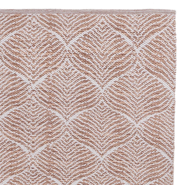 Shipry rug, dusty pink & natural white, 100% cotton
