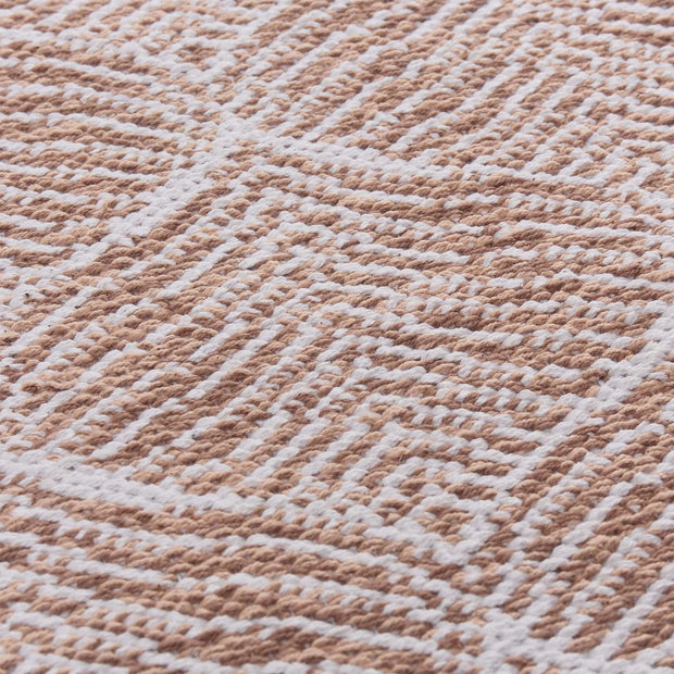 Shipry rug, dusty pink & natural white, 100% cotton |High quality homewares