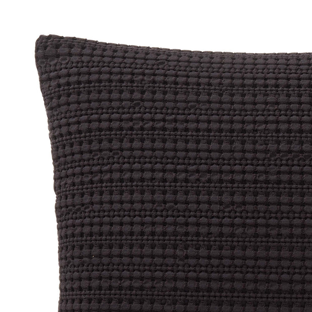 Anadia Cushion charcoal, 100% cotton | URBANARA cushion covers