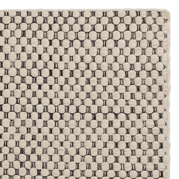 Kalanka rug, natural white & black, 90% new wool & 10% cotton