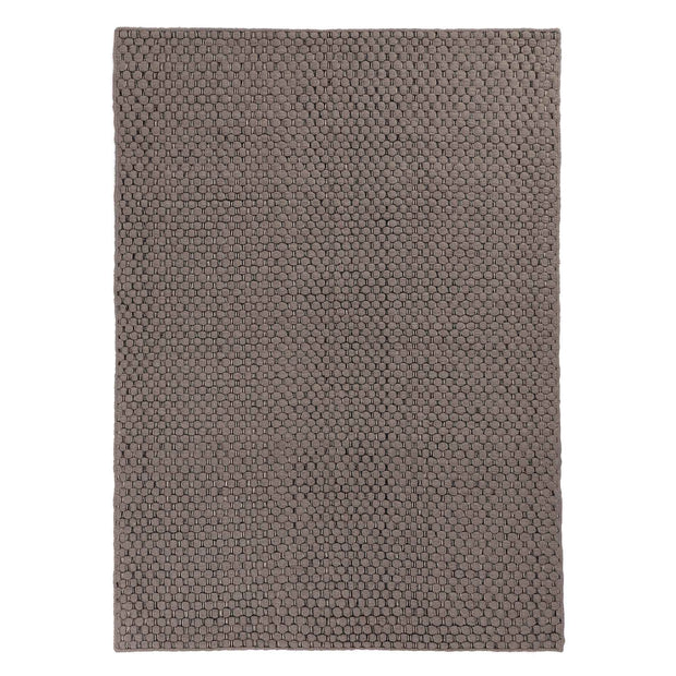 Kalanka rug, grey & black & natural white, 90% new wool & 10% cotton | URBANARA wool rugs