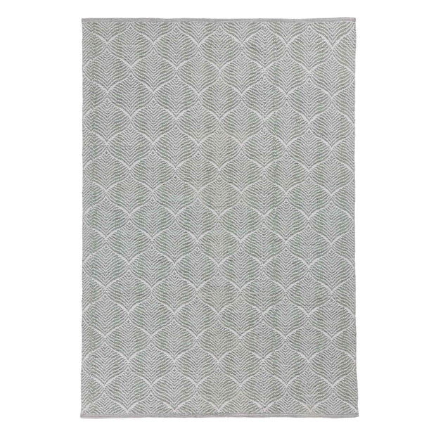Shipry rug, grey green & natural white, 100% cotton | URBANARA cotton rugs