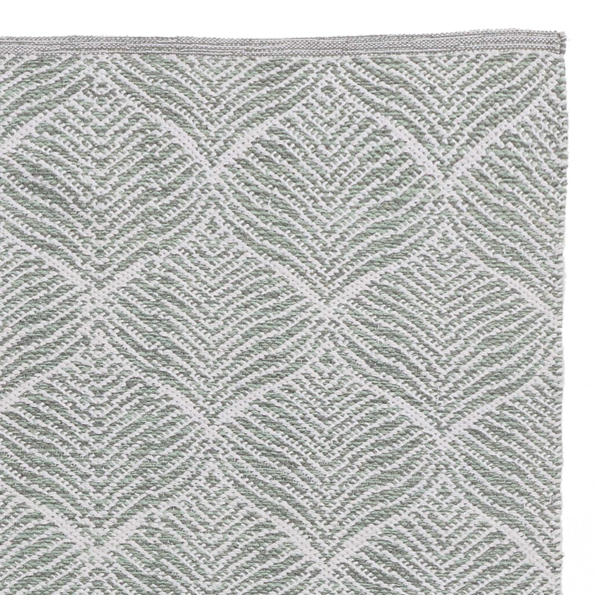 Shipry rug, grey green & natural white, 100% cotton