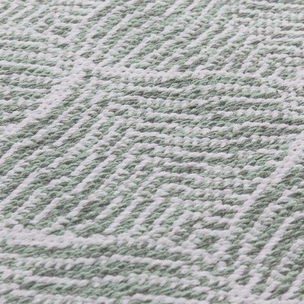 Shipry rug, grey green & natural white, 100% cotton |High quality homewares