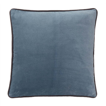 Suri cushion cover, grey blue & dark grey, 100% cotton