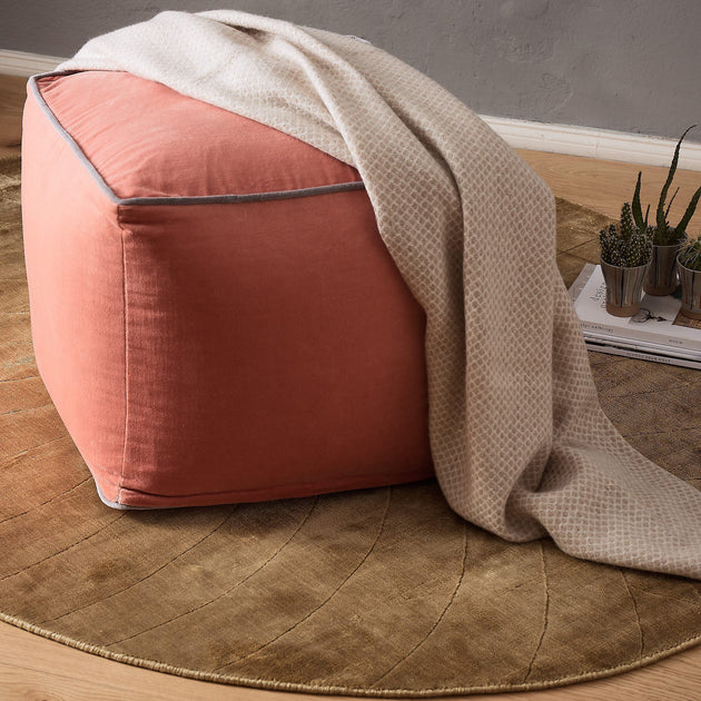Papaya & Grey Godavari Pouf | Home & Living inspiration | URBANARA