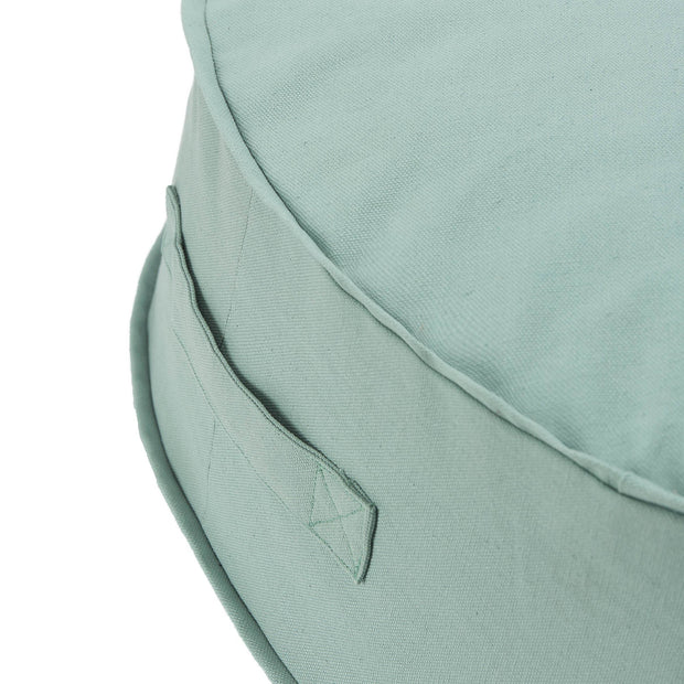 Nashik pouf, light grey green, 100% cotton | URBANARA stools & poufs