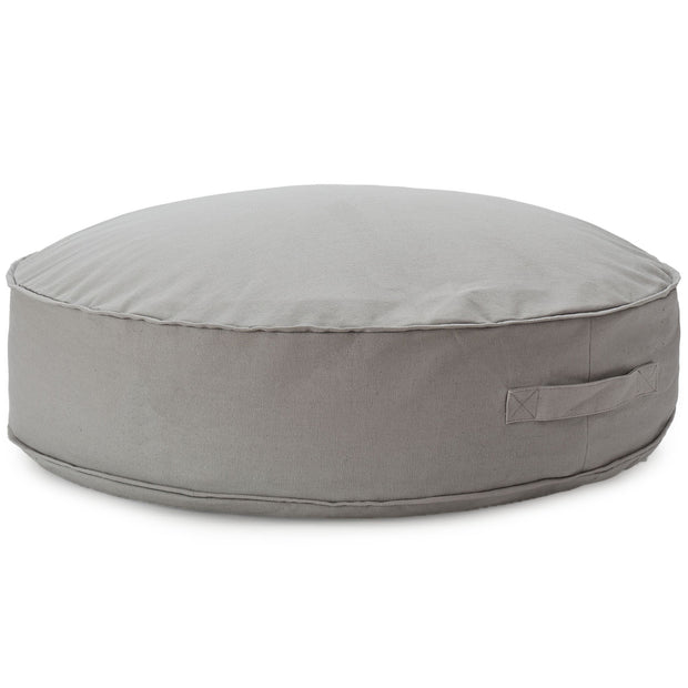 Nashik pouf, light grey, 100% cotton