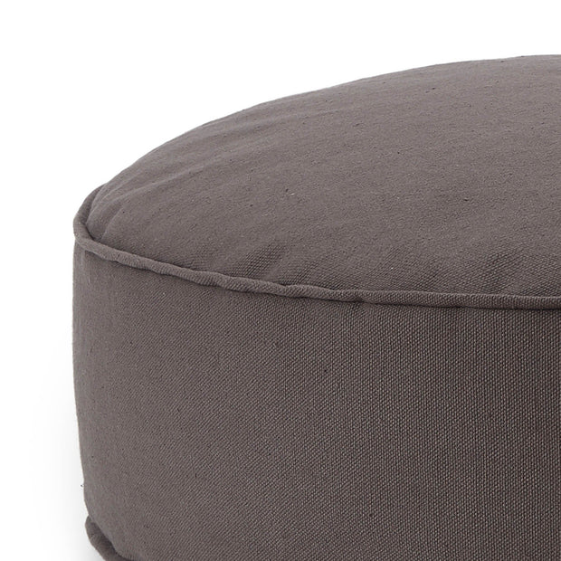 Nashik pouf, dark grey, 100% cotton |High quality homewares