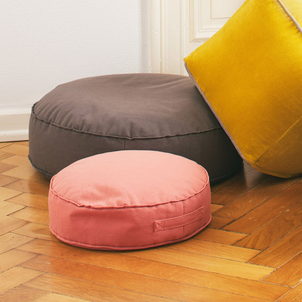 Nashik Canvas Pouf [Papaya]