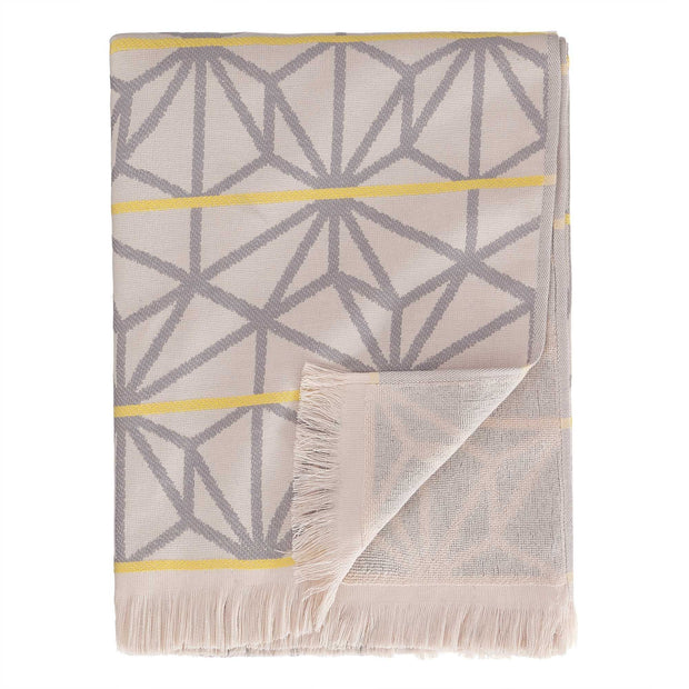 Powder Pink & Grey & Yellow Arade Strandtuch | Home & Living inspiration | URBANARA