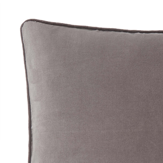 Suri cushion cover, grey & dark grey, 100% cotton | URBANARA cushion covers