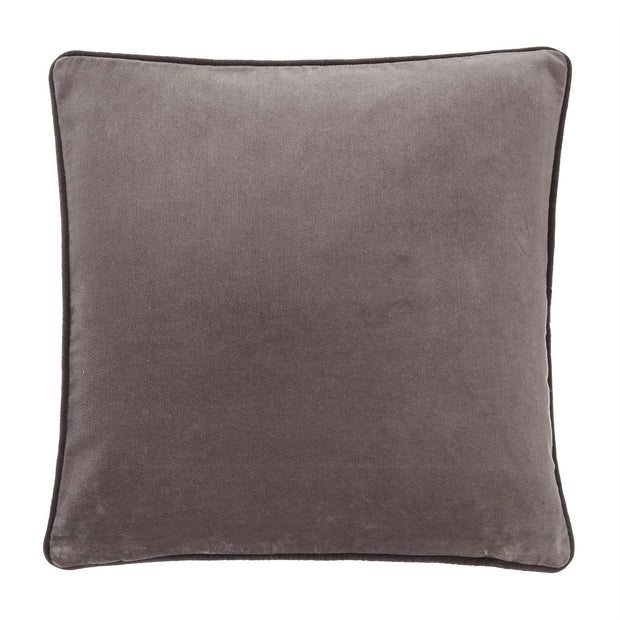 Suri cushion cover, grey & dark grey, 100% cotton