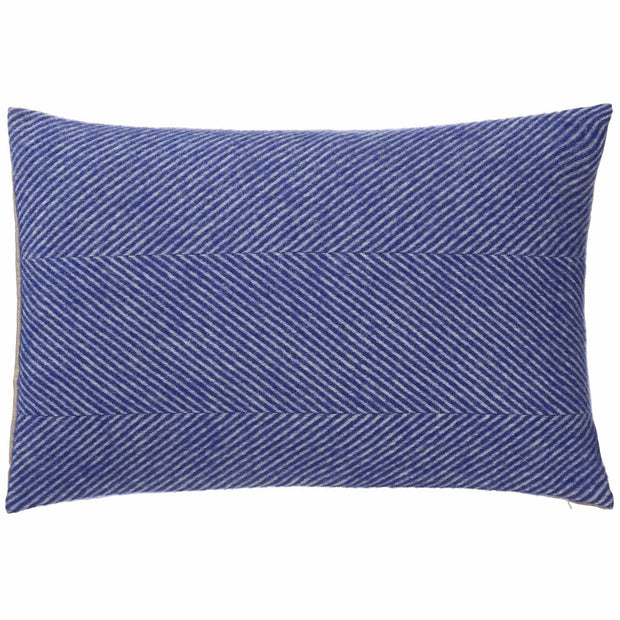 Gotland cushion cover, ultramarine & cream, 100% new wool & 100% linen