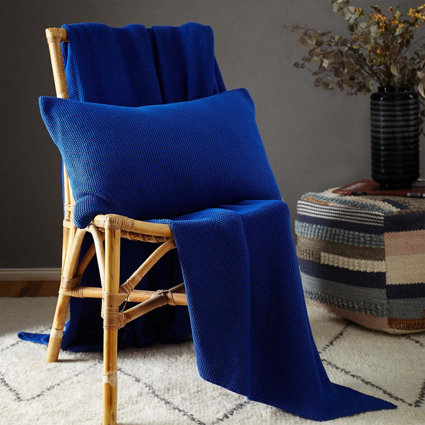 Antua Cotton Blanket [Ultramarine]