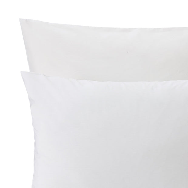 Aliseda duvet cover, white, 100% combed cotton | URBANARA percale bedding