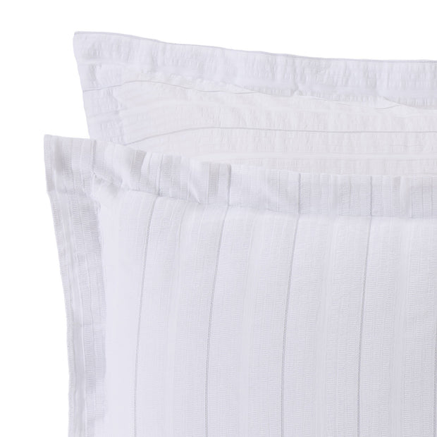 Altura pillowcase, white & silver, 100% cotton |High quality homewares