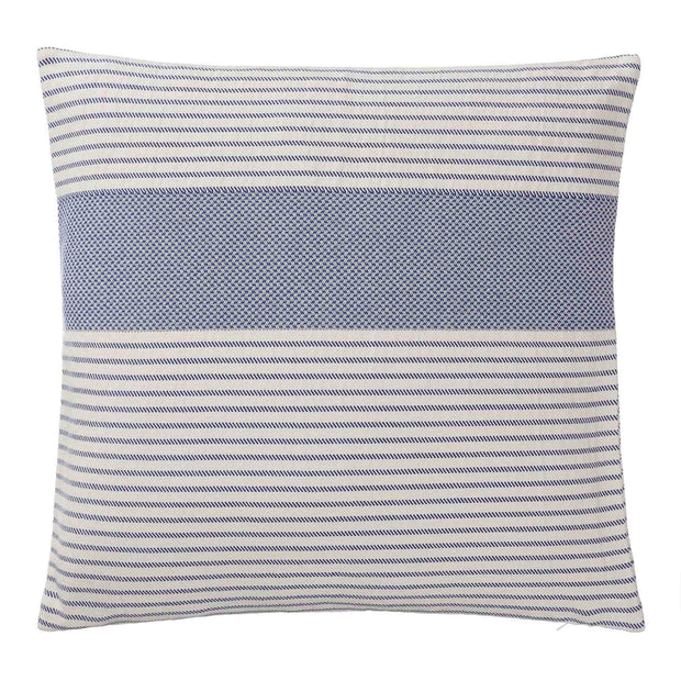 Kadan bedspread, ultramarine & white, 50% linen & 50% cotton |High quality homewares