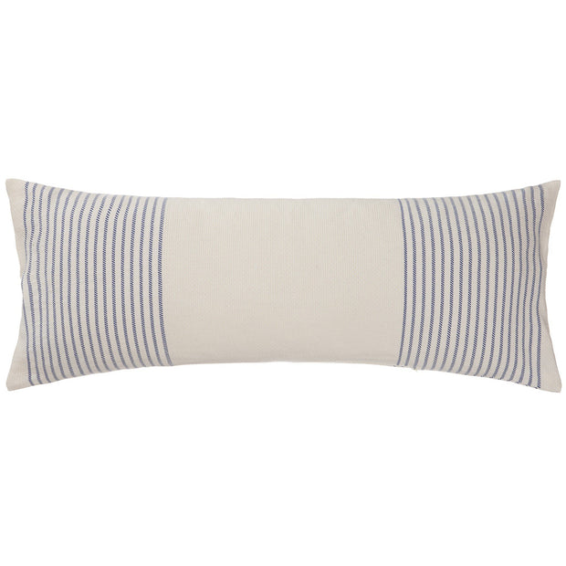 Kadan cushion cover, white & ultramarine, 50% linen & 50% cotton