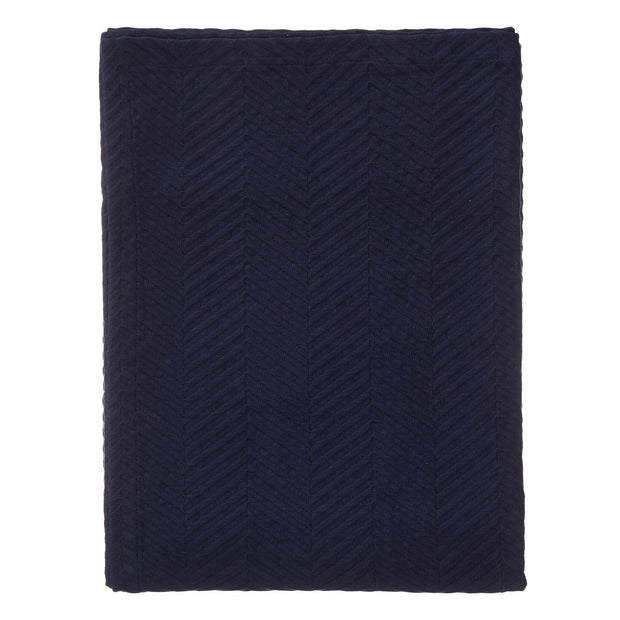 Lixa bedspread, dark blue, 100% cotton