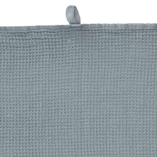Neris hand towel, light green grey, 100% linen | URBANARA linen towels