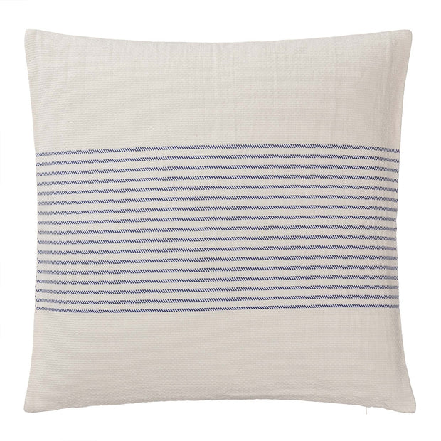 Kadan bedspread, white & ultramarine, 50% linen & 50% cotton |High quality homewares