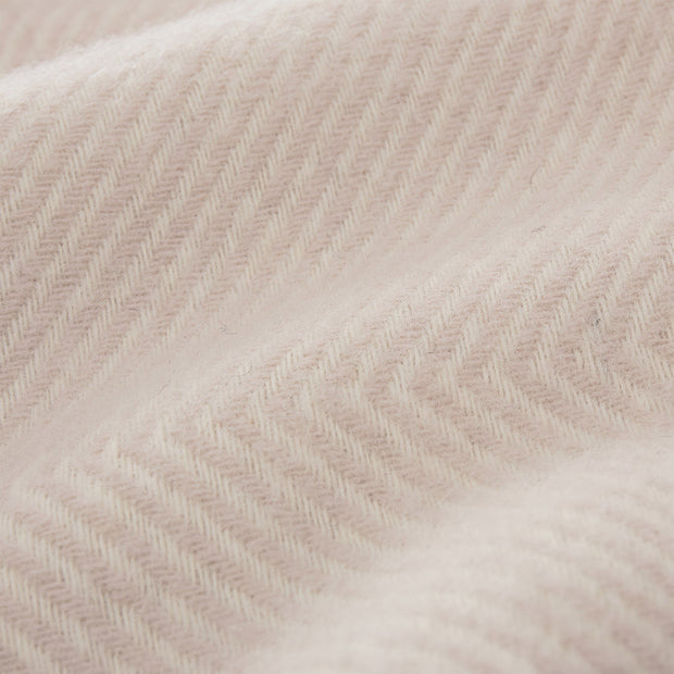 Gotland blanket in powder pink & cream, 100% new wool |Find the perfect wool blankets