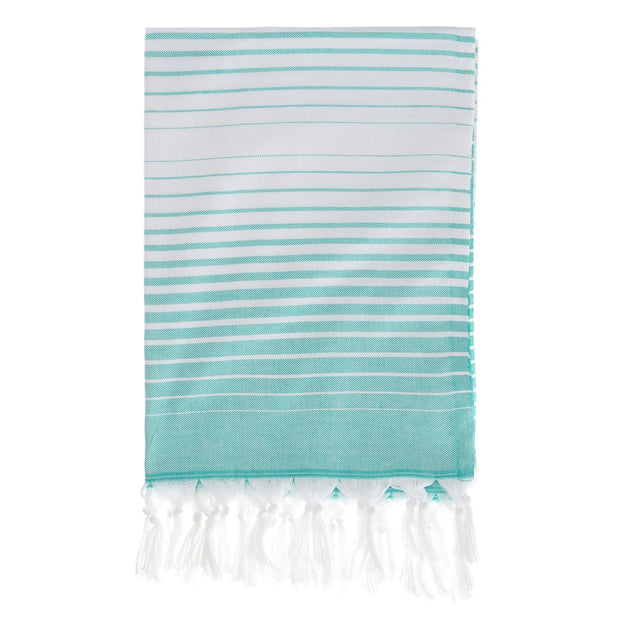 Kadirli hammam towel, green grey & white, 100% cotton