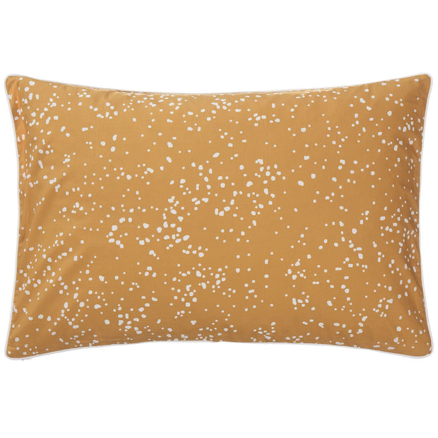 Connemara cushion cover, mustard & white, 100% cotton