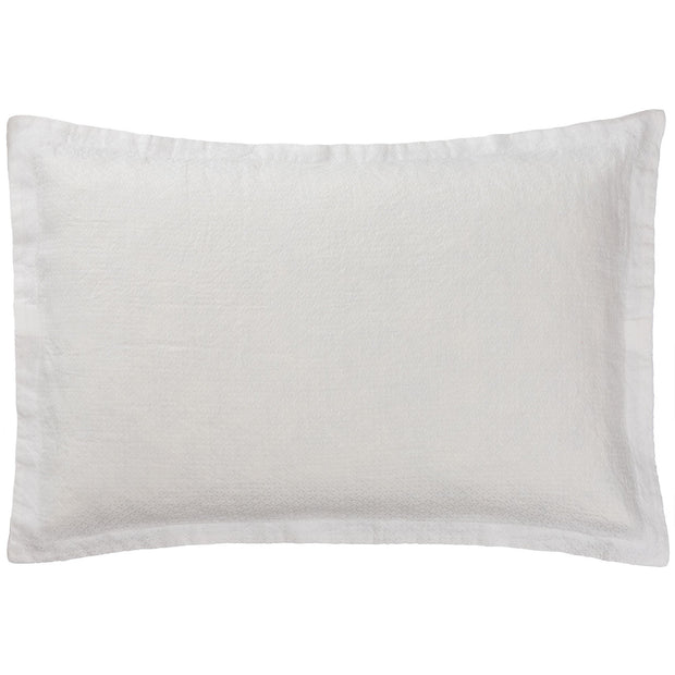 Lousa cushion cover, white, 100% linen
