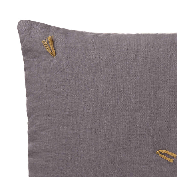 Grey & Bright mustard Gaya Kissenhülle | Home & Living inspiration | URBANARA