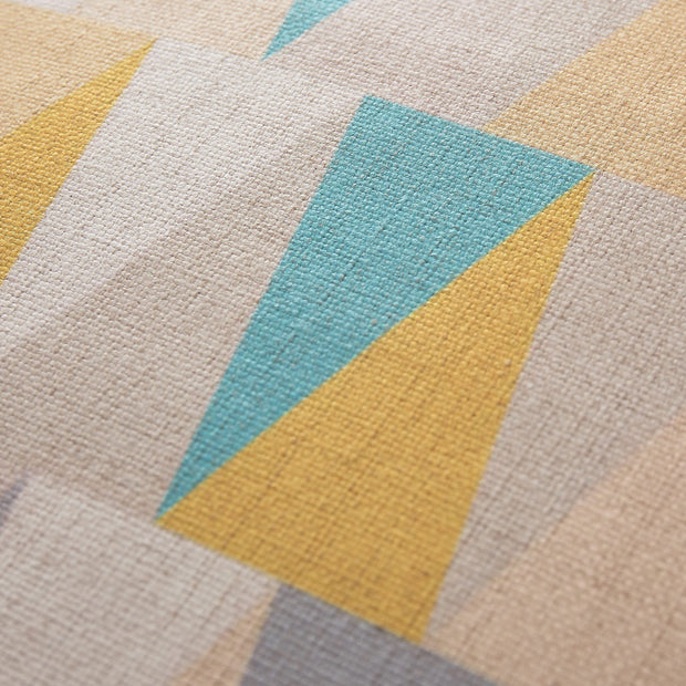 Havant cushion cover, yellow & grey & turquoise, 100% linen |High quality homewares