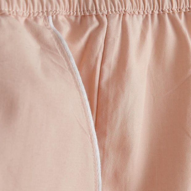 Alva pyjama, light pink & white, 100% organic cotton |High quality homewares
