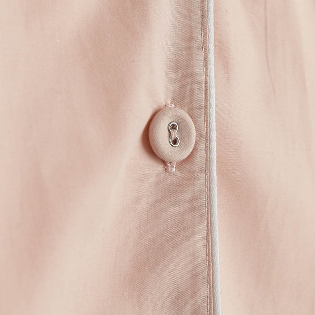 Alva pyjama, light pink & white, 100% organic cotton | URBANARA nightwear
