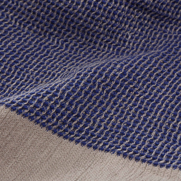 Kovai blanket, ultramarine & natural, 50% linen & 50% cotton |High quality homewares