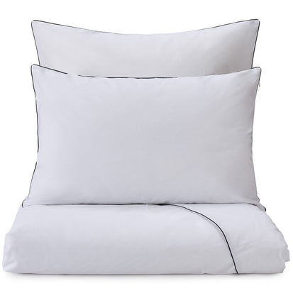 Vitero pillowcase, white & black, 100% combed cotton