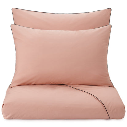 Vitero duvet cover, light dusty pink & black, 100% combed cotton