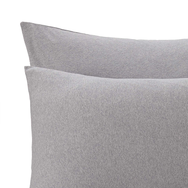 Sabugal duvet cover, light grey melange, 100% cotton | URBANARA jersey bedding