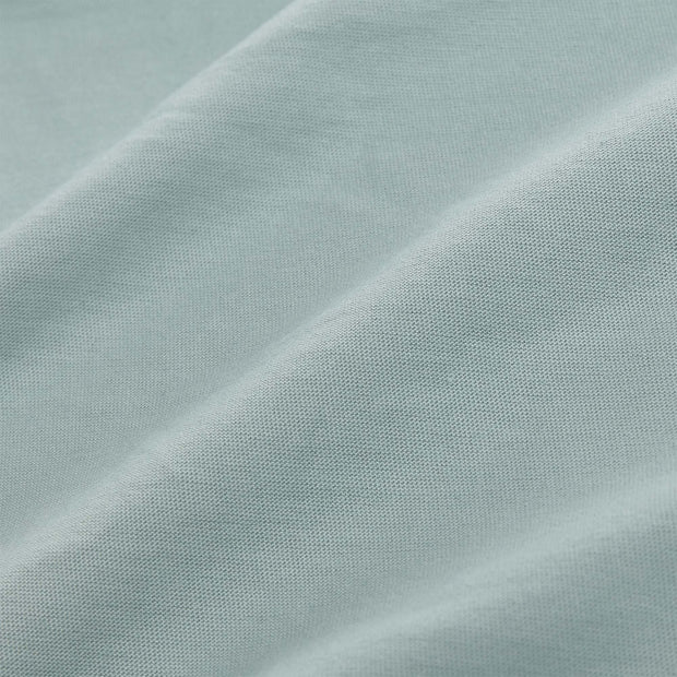 Samares fitted sheet, light grey green, 100% cotton | URBANARA fitted sheets