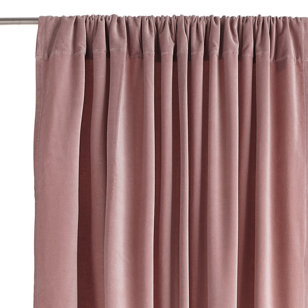Samana curtain, blush pink, 100% cotton | URBANARA curtains