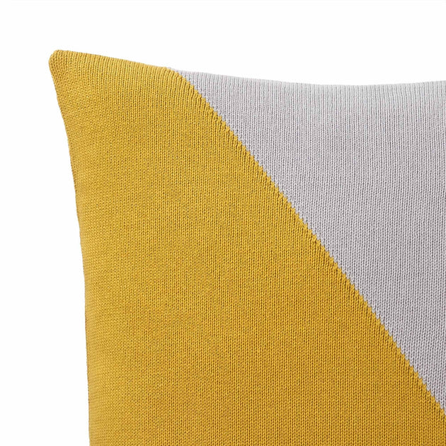 Bright mustard & Silver grey & Natural white Kabral Kissenhülle | Home & Living inspiration | URBANARA