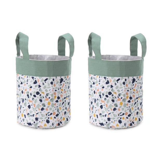 Malpe storage, grey green & mustard, 100% cotton & 100% polyester