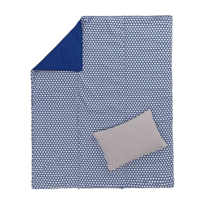 Saldanha Picnic Blanket ultramarine & natural, 75% cotton & 25% linen