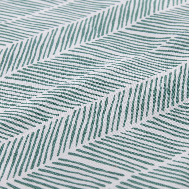 Avola beach mat, green grey & natural white & papaya, 100% cotton & 100% polyester |High quality homewares