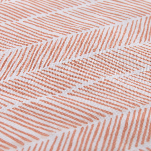 Avola beach mat, papaya & natural white & green grey, 100% cotton & 100% polyester |High quality homewares