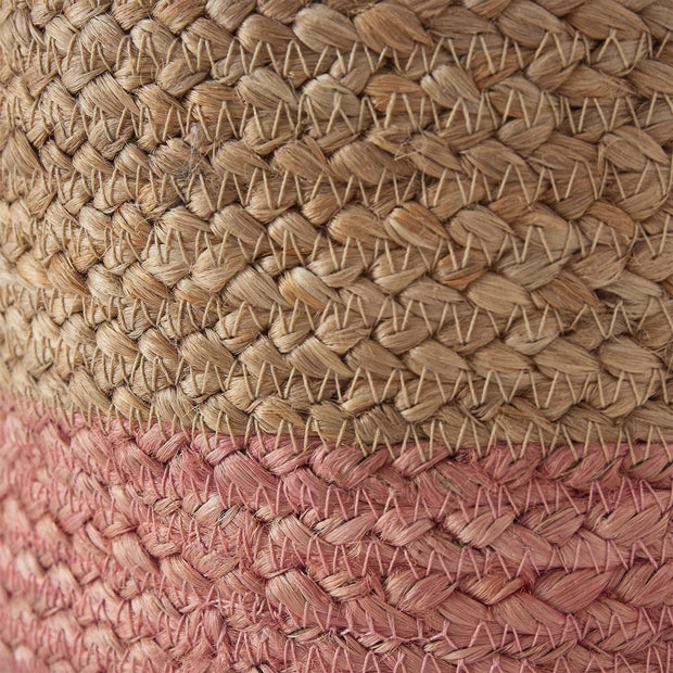 Dasai storage, natural & pink, 100% jute | URBANARA storage baskets