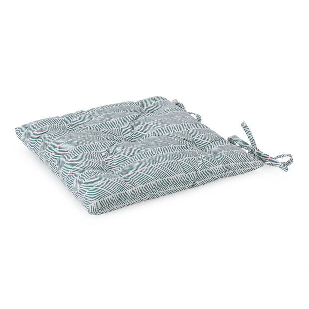 Avola cushion, green grey & natural white, 100% cotton & 100% polyester
